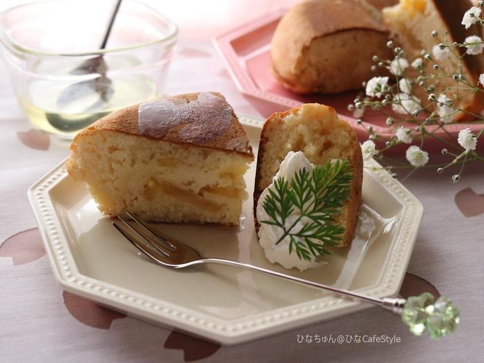 栗のパンケーキ☆おせちで余った栗の甘露煮リメイクレシピ