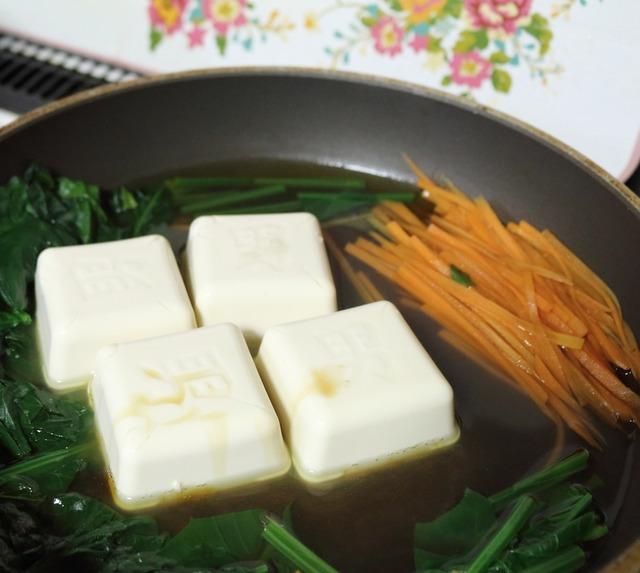 2豆腐を入れる