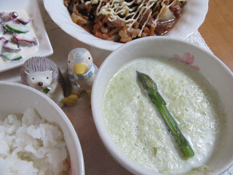 hinatunの!なちゅらる日記-アスパラ冷製スープ