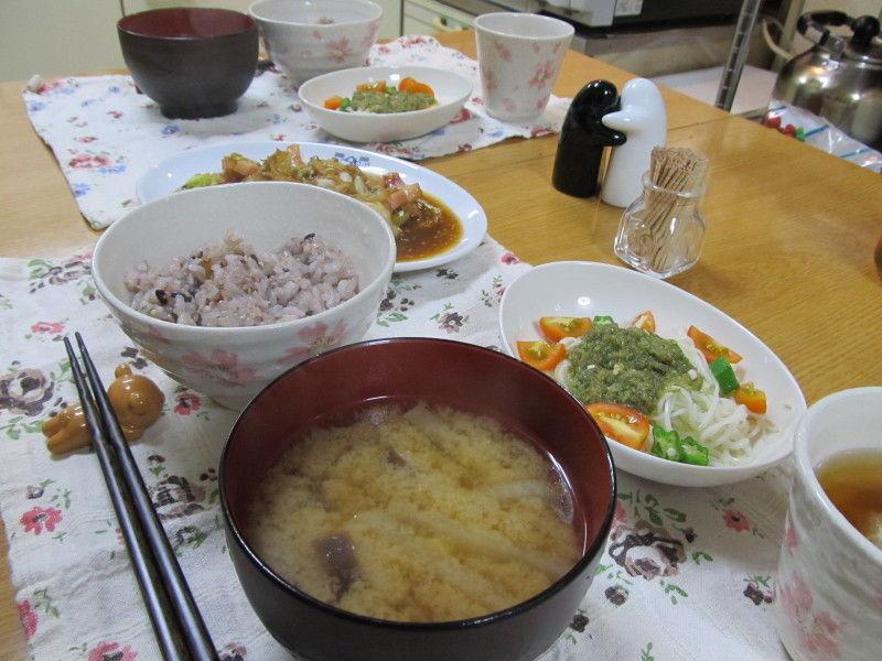 野菜炒め(焼肉のたれ味)☆今日もひとりランチ♪
