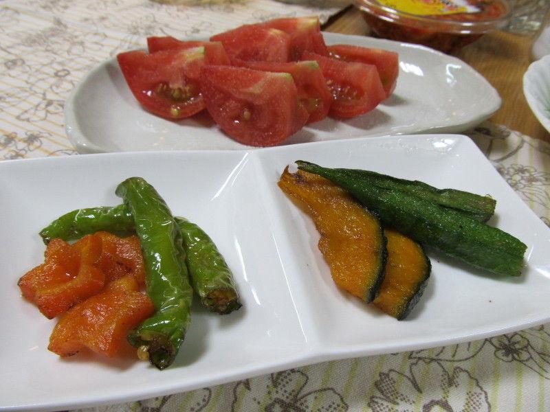 hinatunの!なちゅらる日記-野菜の素揚げ&トマト