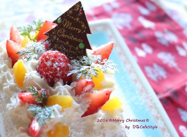 Merry Christmas!ロールケーキ型で作る☆ミニクリスマスケーキ☆