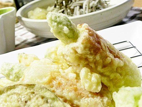 天ぷらとお蕎麦の夜ごはん。