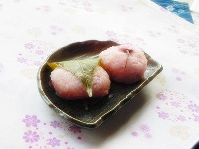 レンジで作る桜餅