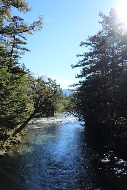穂高橋から見る桂川