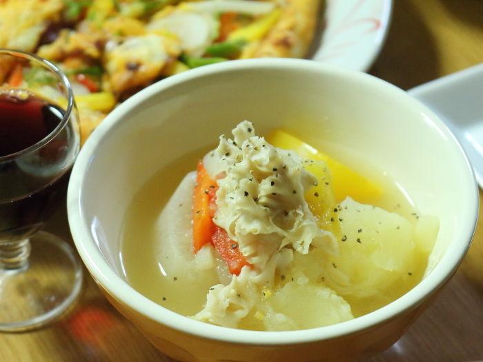 """万能野菜だしde白いポトフ☆""""はなびらだけ""""って知ってますか?"""