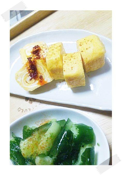 卵焼き&きゅうりのナムル