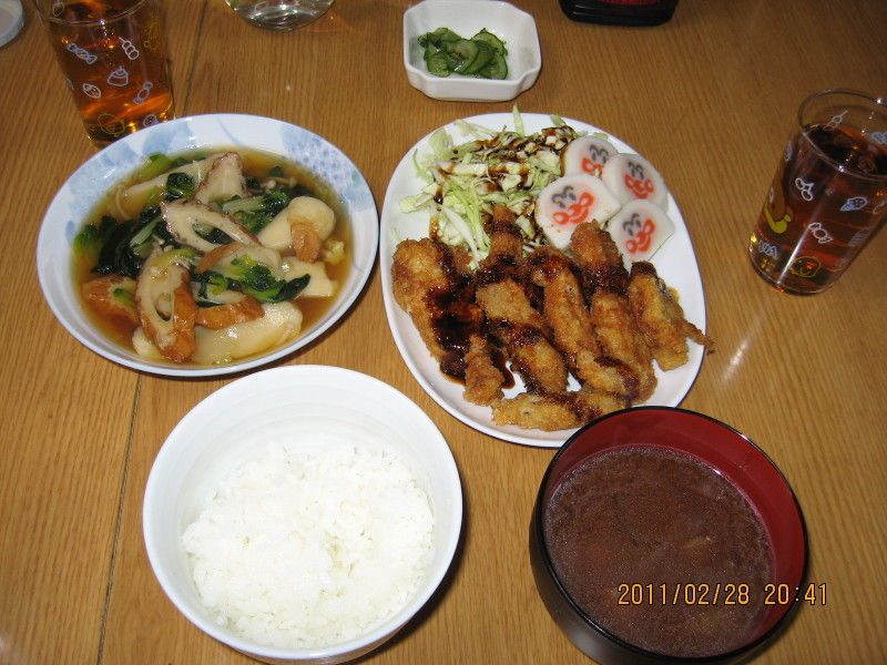 hinatunの!なちゅらる日記-0228 ヒレカツ+ちくわの炊いたん
