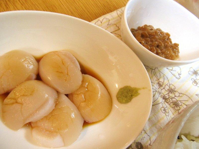 ひなちゅんの!なちゅらる日記-生ホタテ&納豆
