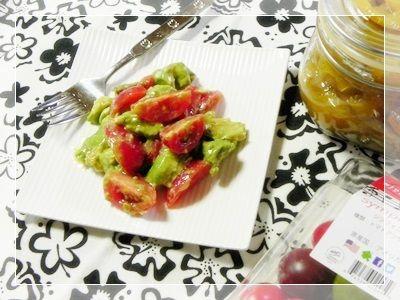 アボカドとミニトマトの塩レモンサラダ