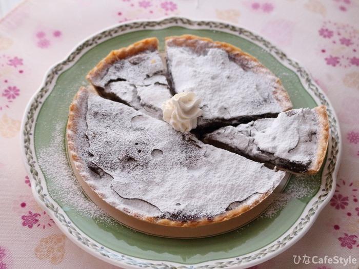 レンジで作る!りんごの生チョコタルトケーキ☆でも最後の最後で失敗したわーん(;´∀`)