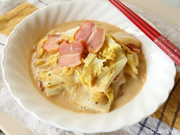 とろけるチーズとベーコンの白菜スープ煮☆【暮らしのアンテナ】
