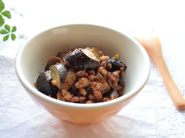 茄子と粗びき肉の梅肉みそ炒め & 梅肉みその作り方