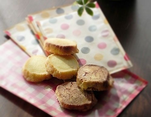 プレーンとココアマーブル アイスボックスクッキー