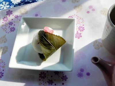 上新粉の桜餅2