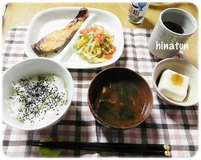焼き鮭の和食な夜ごはんと 最後にならなかった冷やし中華