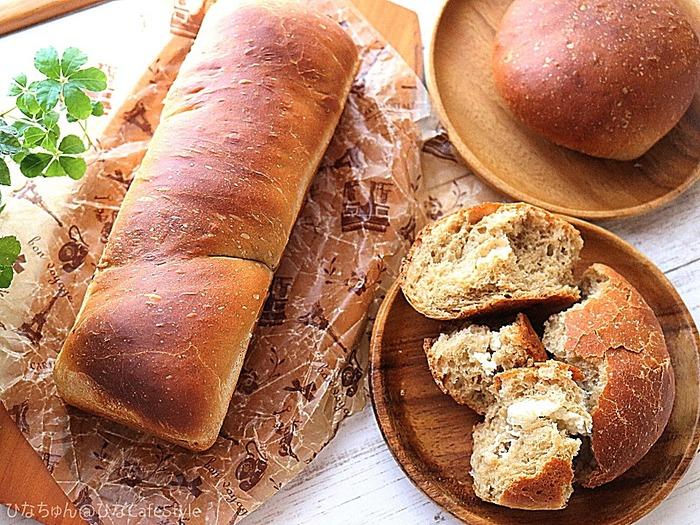 缶コーヒーを使った珈琲パン2種♪☆休日はパンを焼きながらひと休み