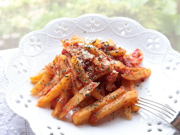 じゃがいものトマト炒め【スパイス大使】☆節約料理だけどそうは見せません!