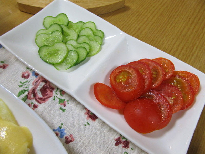 hinatunの!なちゅらる日記-ハートきゅうり&トマト