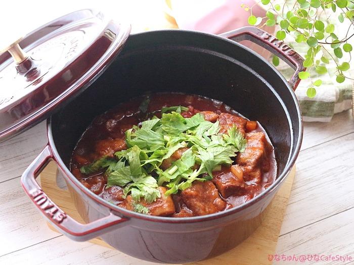 豚バラ肉のトマト煮込み☆ストウブでじっくりコトコト