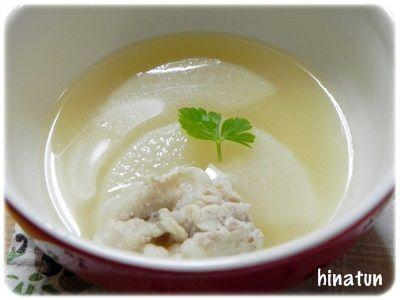 大根煮汁そのままスープ