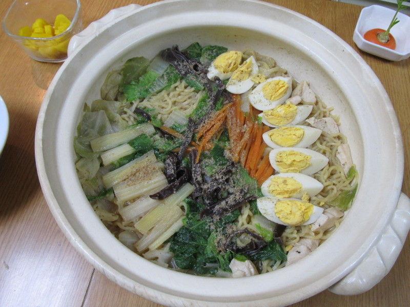 ラーメン鍋☆お庭の成長の様子