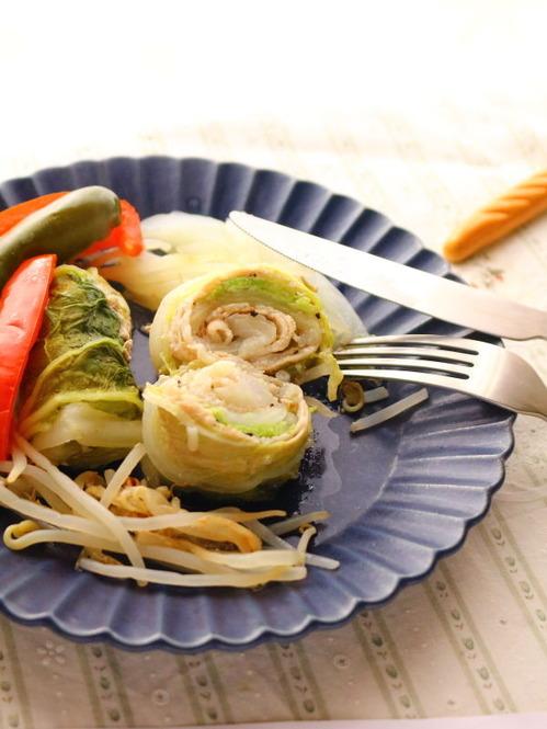 ロール白菜☆無水調理で野菜の旨味を閉じ込める
