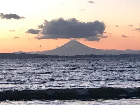 夕日に映える富士山mini