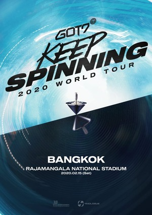 GOT7 2020 WORLD TOUR 'KEEP SPINNING' IN BANGKOK_poster