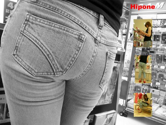 kkk 書店での一コマ。とてもすばらしいスタイルでした。若いっていいですよね。 ... 街中ヒッ