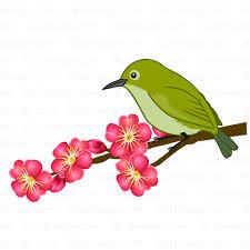 梅の花と酉