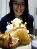 クリスマスチキン&ケーキ&自分。