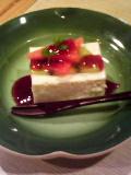 豆乳レアチーズケーキ。