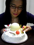 クリスマスケーキ&自分。
