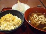 玉子丼&うどん