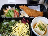 白身魚フライと山菜御飯