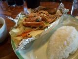 若鶏ネギ塩焼き&野菜焼きのランチ