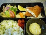 喫茶エリート今週のお弁当:豆ごはんと白身魚のフライ