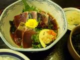 飛騨の、「戻りカツオの タタキ定食」