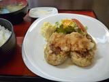 豆腐ハンバーグのランチ