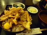 シロエビ入りかき揚げ丼定食