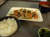 豚肉黒酢炒め定食