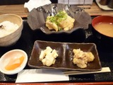 Aランチ 本日の小鉢二種 香の物 ご飯 漁師汁