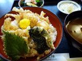 飛騨のゴマフグ白子天丼定食