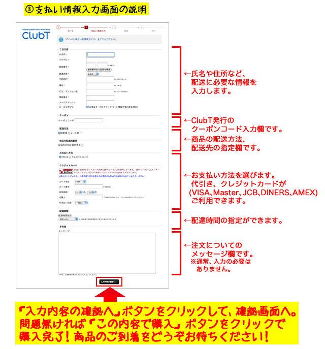 3支払い情報入力画面の説明