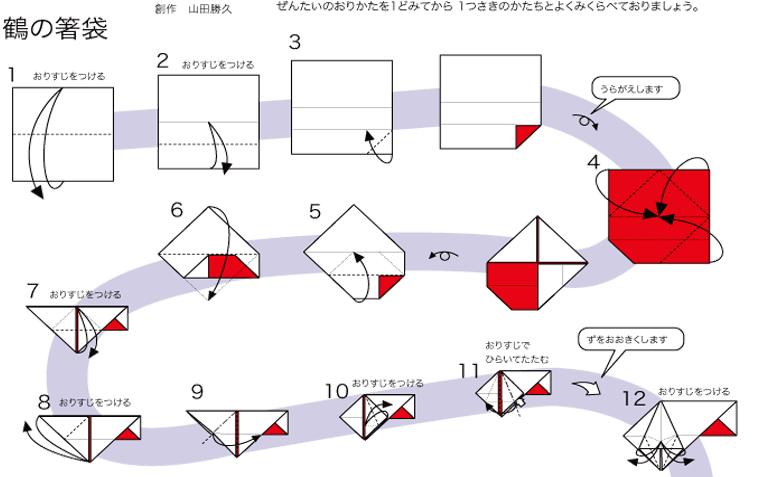 すべての折り紙 鶴の折り紙 : 折り紙で鶴の箸置き : くちこの ...