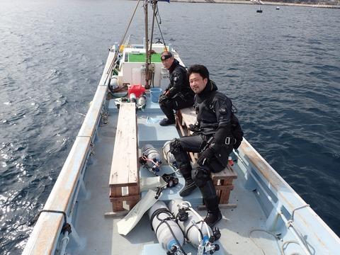 テクニカルサイドマウントで挑む淡島の深場