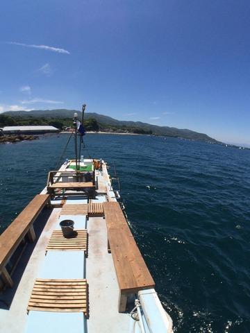 平沢でボートダイブ