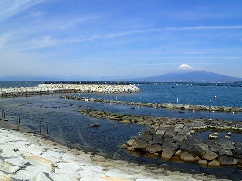 富士山クッキリ良い天気