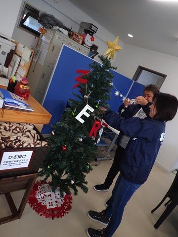 クリスマスツリー飾りつけ@平沢マリンセンター